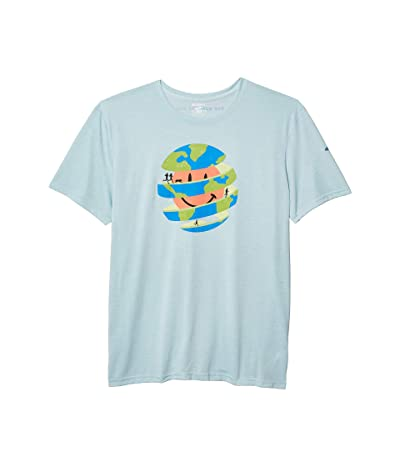 Brooks Distance Graphic T-Shirt (Glacier/Our World to Run) Men