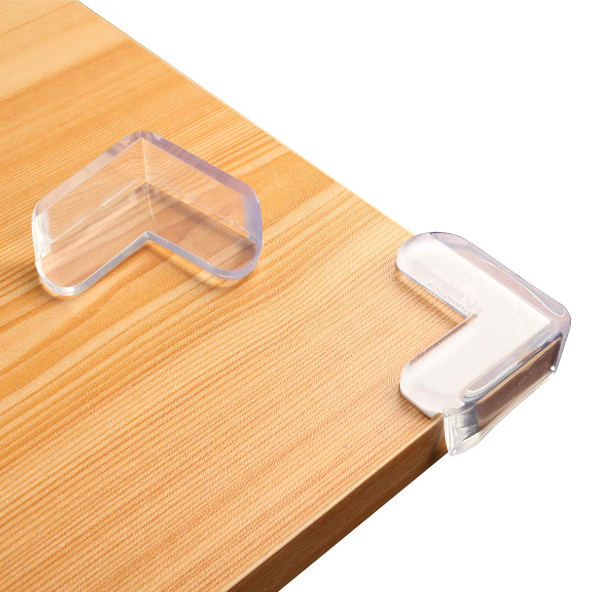 Clear Edge Bumpers with Thickened Adhesive, Corner Protector for Baby Safety from Table Corners, Keep Child Safe, Protectors for Furniture Against Sharp Corners (12 Pack)