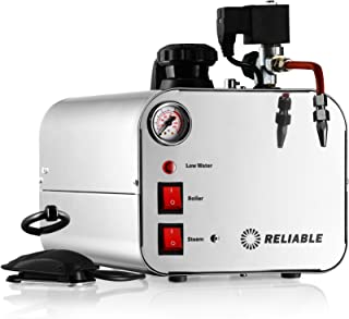 Reliable 5000CJ Stainless-Steel 2/3-Gallon Jewelry Steam Cleaner, 50 PSI,12-Gauge Wiring, Stainless Steel Tank, Copper Heating Element, 4 Safety System, Pressure Gauge, Low Water Warning Made in Italy