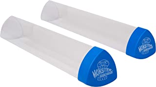 Monster Protectors Playmat Tube Prism-Shaped Play Mat Tube (Blue)- Won't Roll Off Surface and Easy in and Out Design (2 Pack)