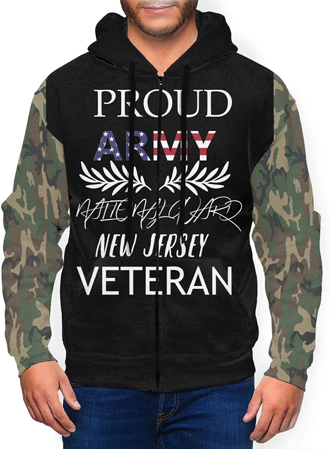 Max 69% OFF Men'S Full Zip Hoodie Proud Army National Our shop most popular New Gift Jersey Guard