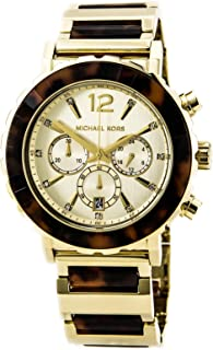 Michael Kors Women's  MK5790 Chronograph Tortoise Gold Tone Watch