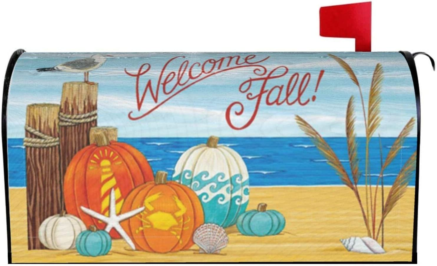 AuHomea Coastal Max 55% OFF Fall Pumpkins Home Garden Ranking TOP13 Magnetic Mailbox Cover