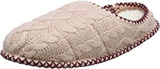 Dearfoams Qilted Cable Knit Clog, Pantofole Donna