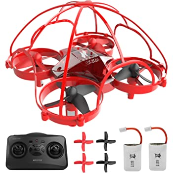 Mini Drone for Kids,Drone for Beginner,Remote Control Drone Toys,360° Full Protection Rc Nano Quadcopter Altitude Hold Headless Mode 3D Flips Indoor Small Pocket Drone with Bonus Batteries (AT-66D)