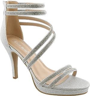 c206a6da8c7 Dressy Formal Sandals  High Heel Ankle Strap Open Toe Inna-1 Sandals by