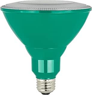 Sunlite PAR38/LED/8W/B LED PAR38 Colored Reflector Light Bulb, Green