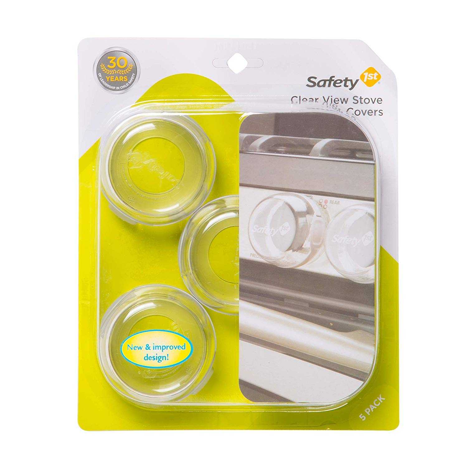 Child Proof Clear View Stove Knob Covers (Set of 5) - 2 Pack