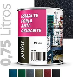 ESMALTE FORJA ANTIOXIDANTE proteccion y decoracion sobre acero. (750ML- 1.3 kilos NEGRO)