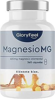 Magnesiumkapslar, 365 Kapslar (1 årsbehov), 664 mg varav 400 mg Elementärt Magnesium per Kapsel, Veganskt och Högkoncentra...