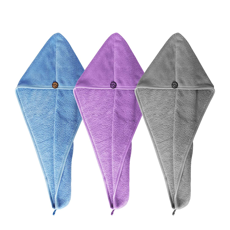 HWASHIN Very popular! 3 Phoenix Mall Pack Microfiber Hair Towel Anti Women Wrap Frizz for
