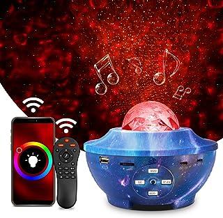Projecteur LED Étoile, Wifi Intelligent Projecteur Galaxie, Projecteur de Veilleuse Rotatif Support Alexa/Google Assistant...