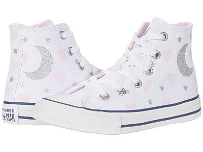 Converse Kids Chuck Taylor(r) All Star(r) Hi (Little Kid/Big Kid) (White/Pink/Black) Girl