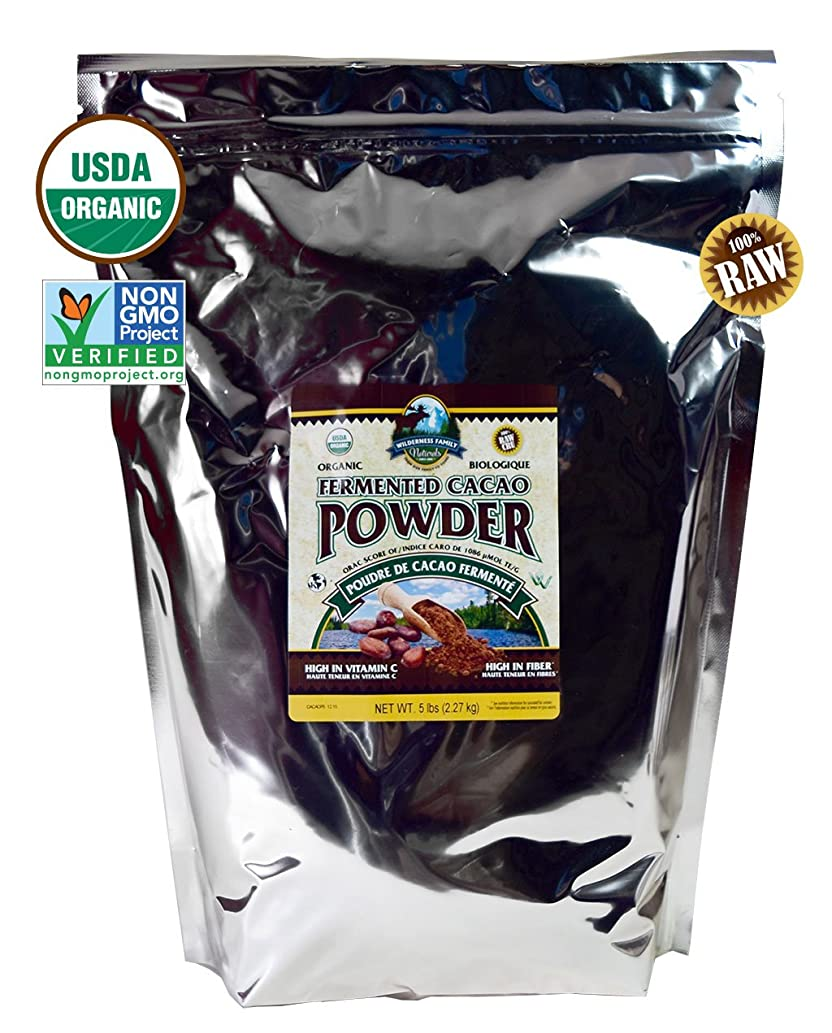 Fair trade Cacao Powder, Certified Organic, Premium, Smooth & Raw, Non-GMO 5 Pounds, Perfect for Smoothies, Baking, Chocolate Making, and More!