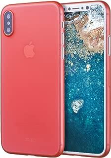 doupi UltraSlim Funda para iPhone X (iPhone 10), Finamente Estera Ligero Estuche Protección, Rojo