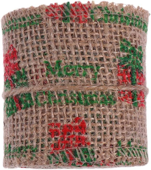 Healifty 2m 6cm Burlap Craft Ribbon Wedding Home DIY for Crafts National products Max 51% OFF