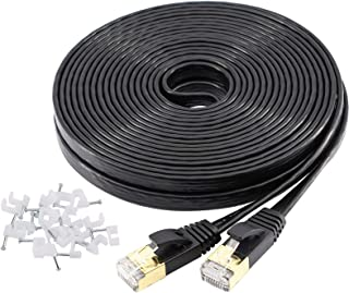 YOREPEK Cavo Ethernet Cat 7 - Cavo LAN 15 Metri Cavo Ethernet Piatto 10Gbps 600MHz/s, Cavo di Rete STP con connettori RJ45...