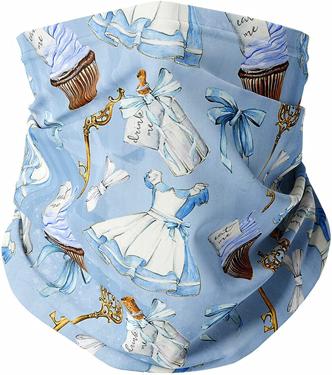 Neck Gaiter Face Covering - Alice In Wonderland Icons