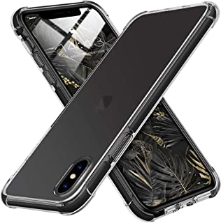 MATEPROX iPhone Xs Max Case Clear Hybrid TPU Hard Cover with Thin Shockproof Bumper Protective Case for iPhone Xs Max 6.5'' (Clear Black)