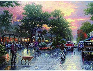 carmel sunset on ocean avenue canvas