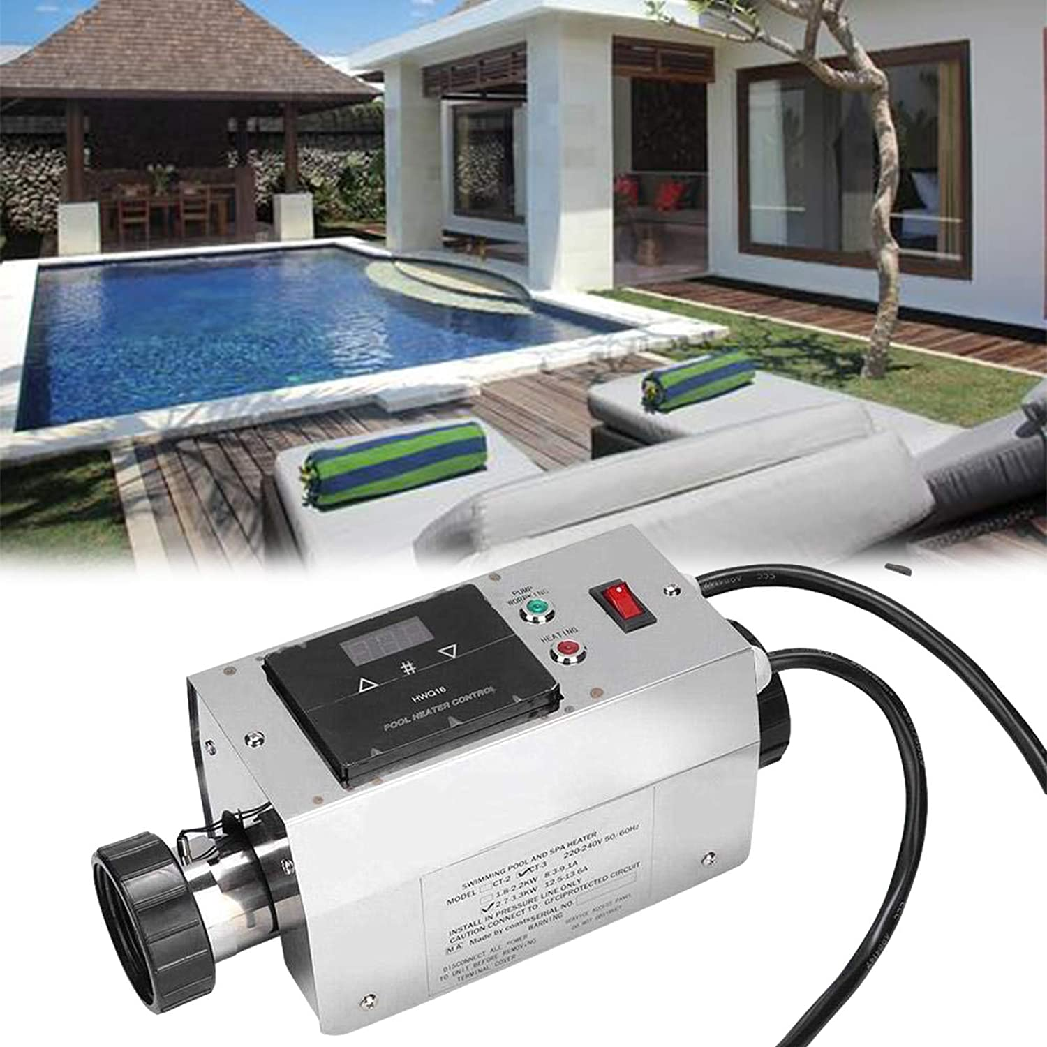 N\C 3KW Pool Heater Thermostat Gifts Poo Waterproof for Outstanding fit