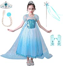 QPANCY Girls Queen Dress Up Snow Princess Costume Halloween Party Dresses Cosplay Clothes
