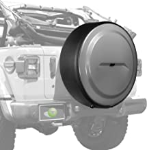 Boomerang - MasterSeries Hard JL Tire Cover - (255/70R18) - (Painted Plastic Face & Black Powder-Coated Ring) for Jeep Wrangler JL (with Back-up Camera) - Sahara (2018-2020) - Sting-Gray