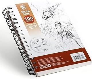 TBC The Best Crafts Bloc de Papier Dessin Croquis blanc 100 Feuilles 100g A5(5.5''X8.5'') pour Professionnel Artiste Éduti...