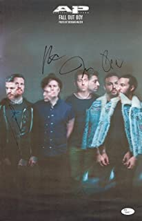 Fall Out Boy Band Signed 11x17 Poster Print Certified Authentic JSA COA