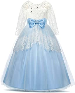 Acecharming Lace Flower Girls Dress Backless Princess Pageant Ball Gown Wedding Christmas Party Dress