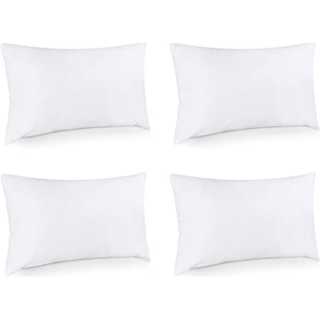 Amazon Com Foamily 12 X 20 Premium Hypoallergenic Lumbar Stuffer Pillow Insert Sham Square Form Polyester Standard White Home Kitchen