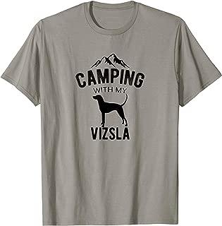 Camping With My Vizsla Dog Lover Magyar Vizsla Puppy T-Shirt