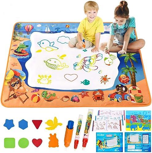 ALLCELE Grand Tapis Dessin Enfant, 39*28 Pouces Tapis Magique Dessin Eau Auqa Réutilisable Magic Doodle Pad Coloriage...