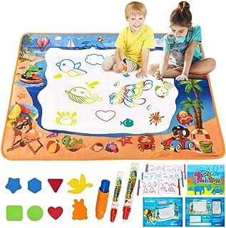ALLCELE Grand Tapis Dessin Enfant, 39*28 Pouces Tapis Magique Dessin Eau Auqa Réutilisable Magic Doodle Pad Coloriage Tapi...