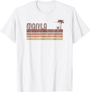 Manila Philippines Vintage 70s 80s Vacation T-Shirt