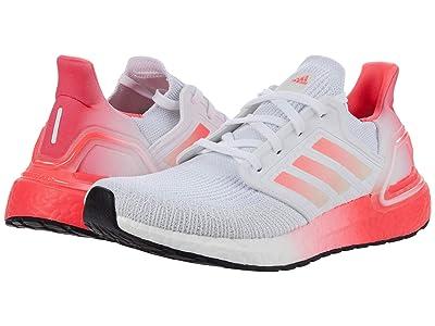 adidas Running Ultraboost 20 (White/Signal Pink/Signal Pink) Women