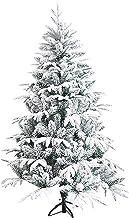 SLZFLSSHPK kerstboom tafelblad Kunstmatige Sneeuw Flocked PVC Xmas Bomen Kunstmatige Kerstbomen met Metalen Stand Ndoor Ou...