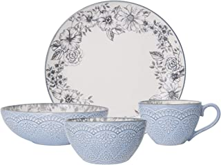 Pfaltzgraff Gabriela Gray 16-Piece Stoneware Dinnerware Set, Service for 4 - 5216945