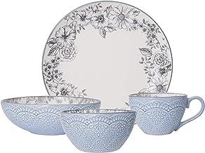 Pfaltzgraff Gabriela Gray 16-Piece Stoneware Dinnerware Set, Service for 4-5216945