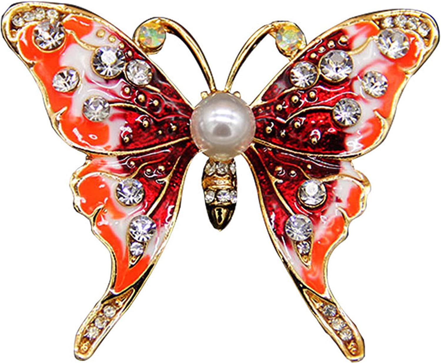 Ranking TOP5 Popular standard Dripping Oil Brooch Butterfly Coat Painted Temperament Ac