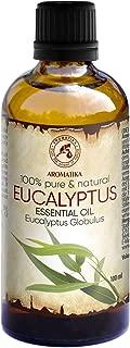 Eukalyptusöl Ätherisch 100ml - Reines Und Natürliche Eukalyptus Öl - Eucalyptus Globulus - Besten für Sauna - Inhalieren - Aroma Diffuser - Duftlampe - Essenzielles Eukalyptusöl