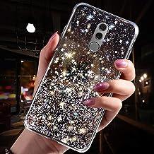 Jinghaush kompatibel med Huawei Mate 10 Pro skal glasyr transparent svart