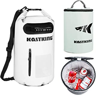 KastKing Soft Sided Cooler/Dry Bag Combo, 100% Waterproof & 100% Leakproof Insulated Cooler, Zero Condensation, Welded Wat...
