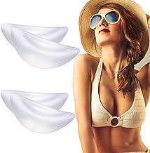PYAMCMSY insertos de pecho, de silicona para copa A a C, insertos de bikini pushup, 2 pares de almohadillas de pecho, transparente