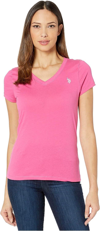 U.S Womens Short Sleeve V-Neck T-Shirt Polo Assn