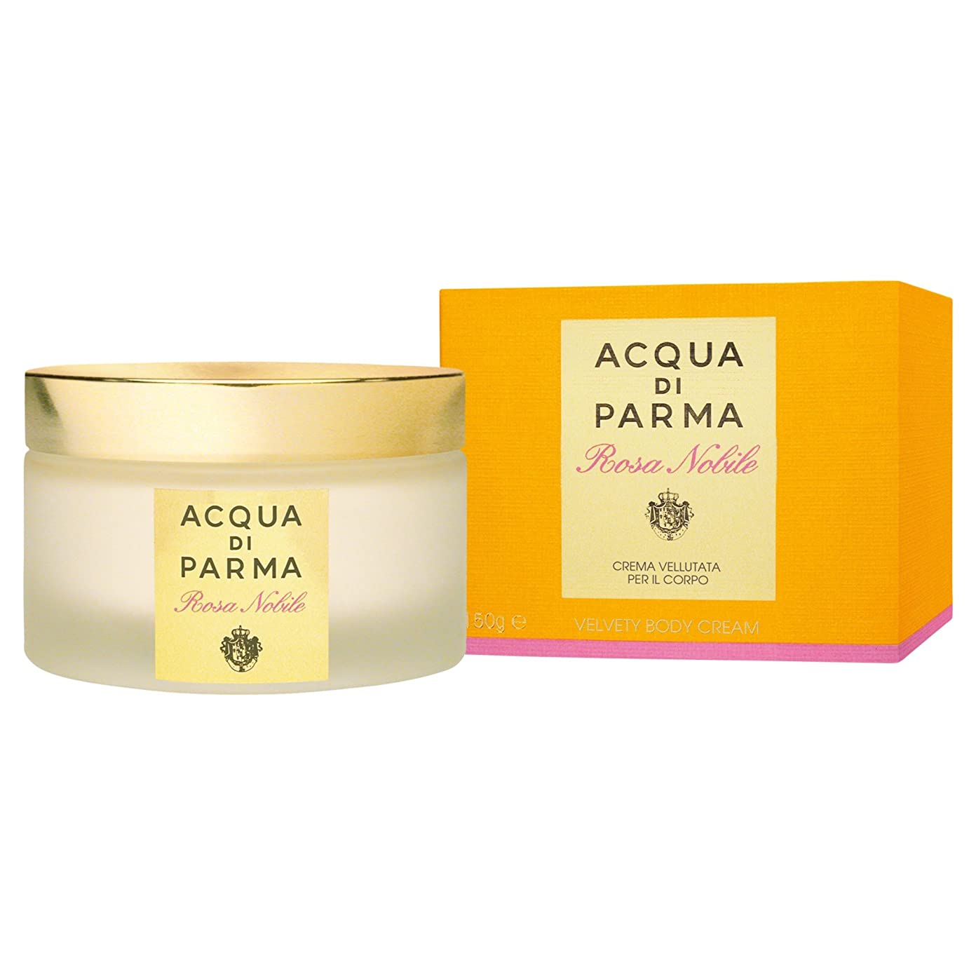 描写負荷恐怖アクア?ディ?パルマローザノビルボディクリーム150ミリリットル (Acqua di Parma) (x6) - Acqua di Parma Rosa Nobile Body Cream 150ml (Pack of 6) [並行輸入品]