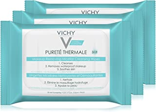 Vichy Pureté Thermale Micellar Makeup Remover Wipes, 3 Count