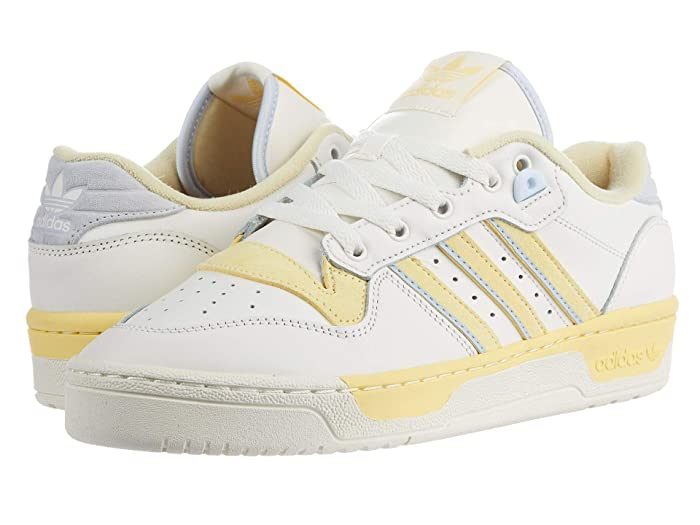 adidas Originals  Rivalry Low (Cloud White/Off-White/Easy Yellow) Mens Shoes