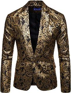 [MANMASTER(マンマスター)]テーラードジャケット ブレザー 一つボタン 細身 花柄 ステージ衣装?メンズ CH339
