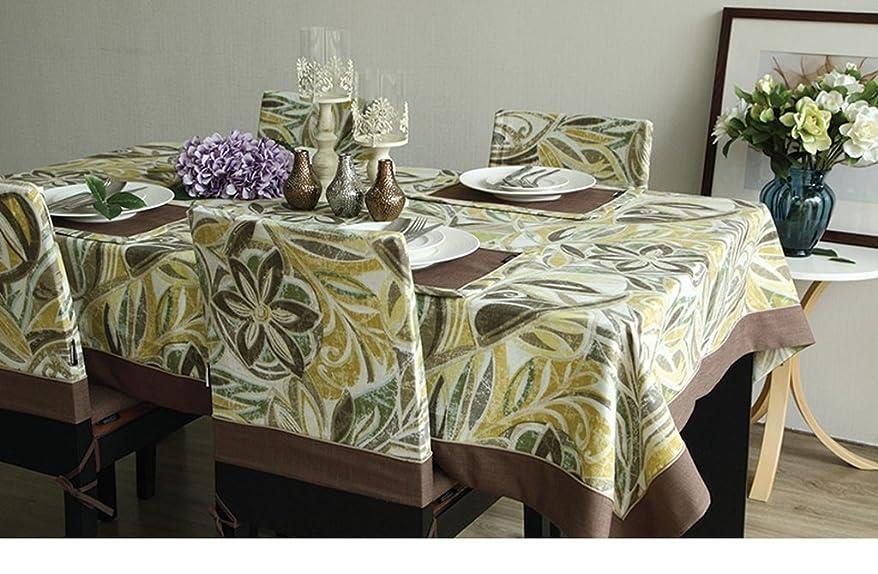 黄緑色の綿布の印刷布新鮮なアメリカの国のレトロコーヒーテーブルテーブルクロステーブルクロステーブルクロス by Home Déco Outlet ( サイズ さいず : 140*200 )